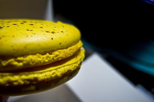 Banana macaron from Bouchon Bakery, Yountville