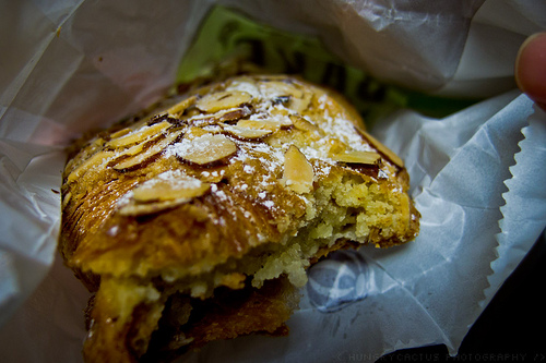 Almond croissant from Bouchon Bakery, Yountville