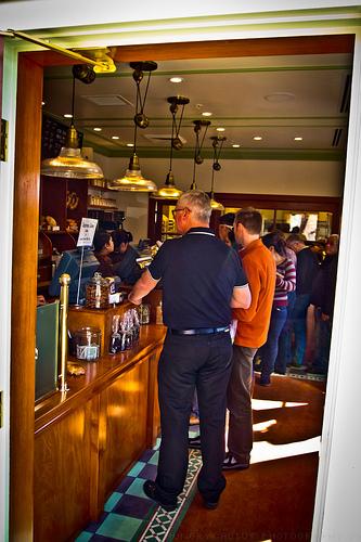inside view of Thomas Keller's Bouchon Bakery, Yountville