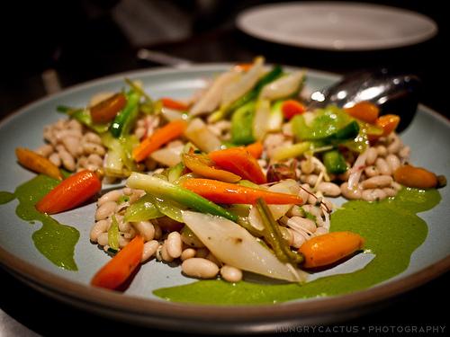 Warm Autumn Vegetable Salad at Ad Hoc, Yountville, CA
