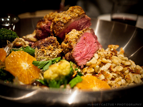 Herb Crusted Lamb Sirloin at Ad Hoc, Yountville, CA